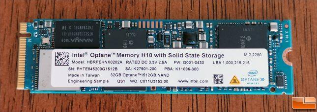 Intel Optane Memory H10 512GB Drive
