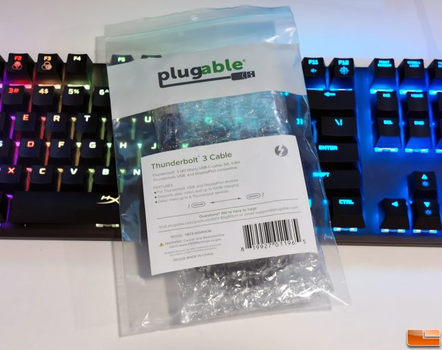 Plugable Thundetbolt 3 100W Cable
