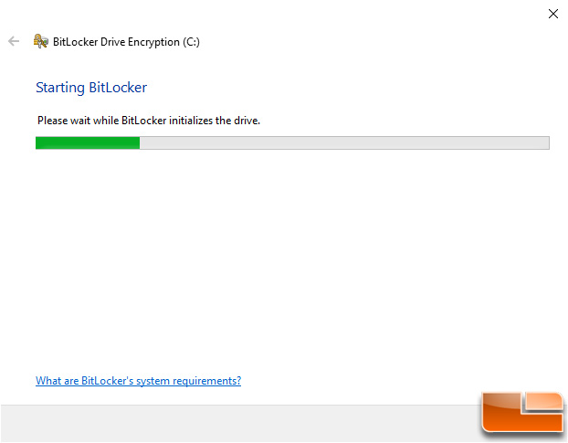 Windows BitLocker Starting