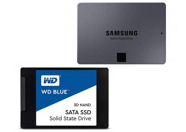 SATA SSDs w/ QLC and TLC NAND Flash
