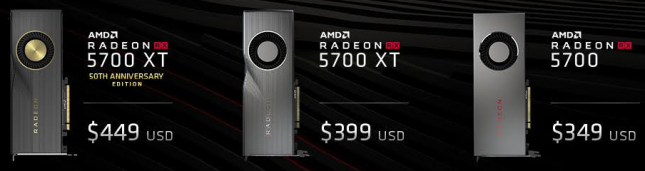 AMD Radeon RX 5700 Series Pricing
