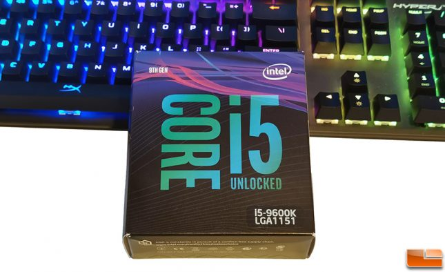 Intel Core i5-9600K Retail Box CPU