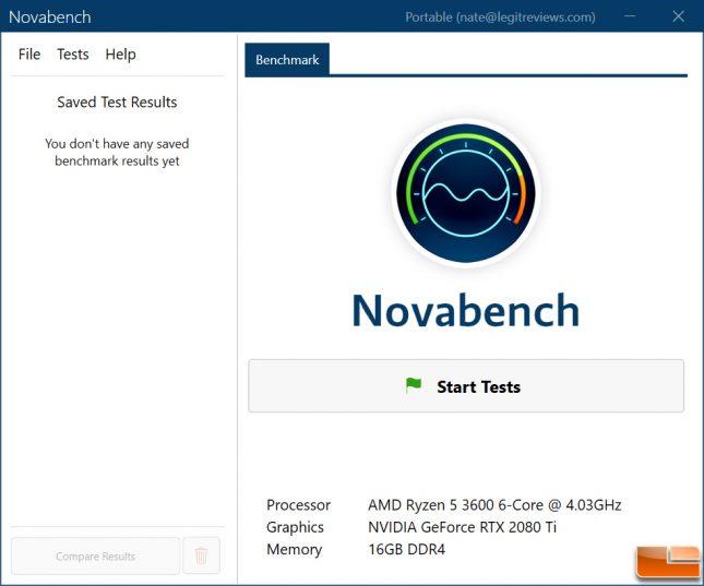 Novabench Benchmark Utility