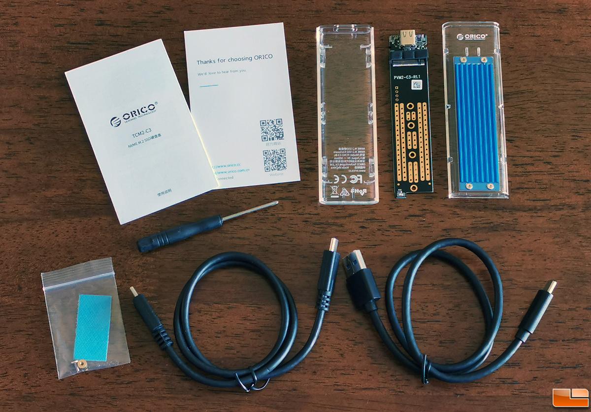ORICO NVMe M 2 SSD Enclosure Review - Legit Reviews