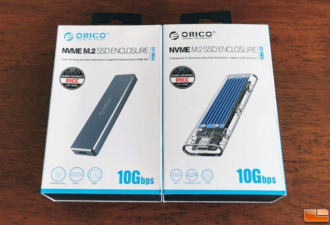 Orico M.2 NVMe SSD Enclosures