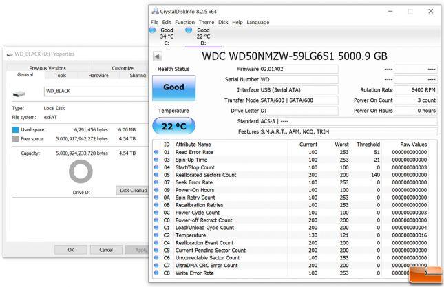 WD_Black P10 5TB Free Space