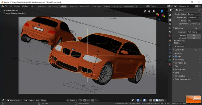 Blender 2.80 - BMW CPU Benchmark
