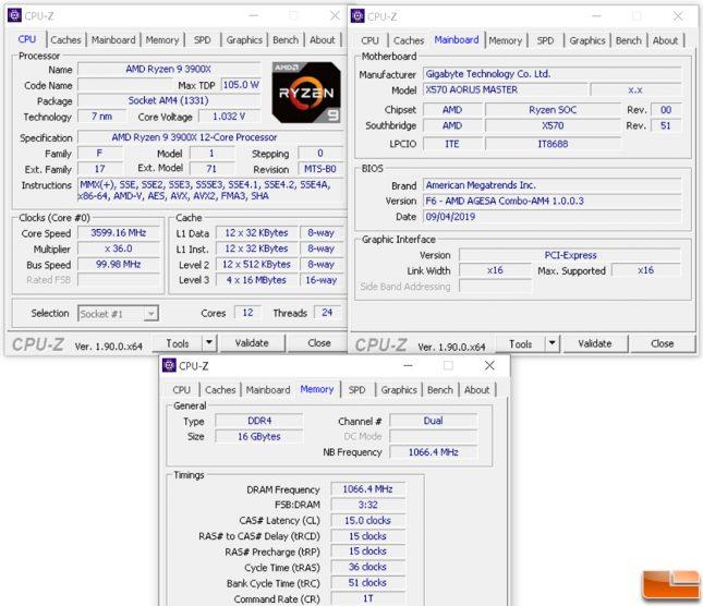 CPU-Z for Ryzen 3000 Boost Clock Test Platform