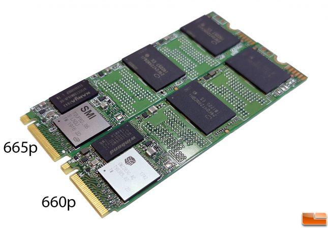 Intel SSD 660p versus Intel 665p