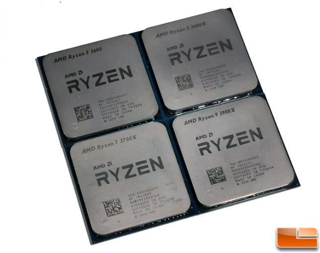 AMD Ryzen 3000 Series CPUs