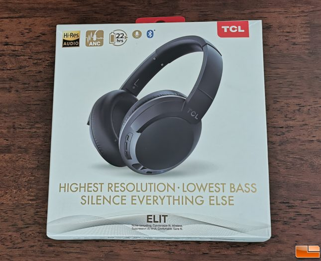 TCL ELIT400NC Headphones Retail Packaging