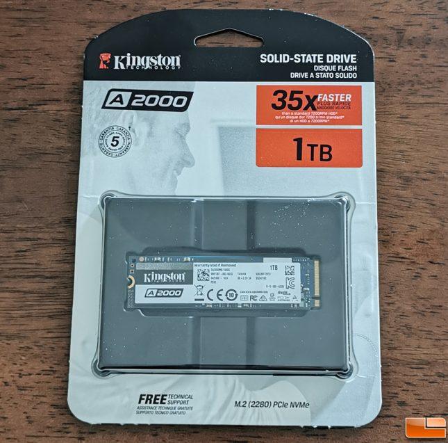 Kingston A2000 PCIe NVMe SSD