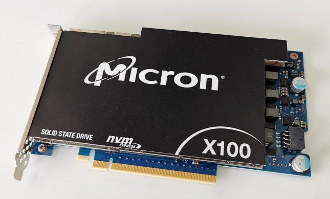 Micron X100 3D XPoint PCIe x16 NVMe SSD
