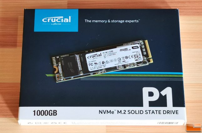 Crucial P1 1TB Retail Packaging