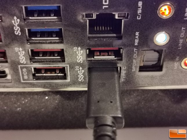 SuperSpeed USB 20Gbps Port