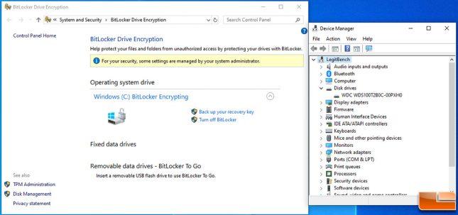 WD Blue SN550 Bitlocker