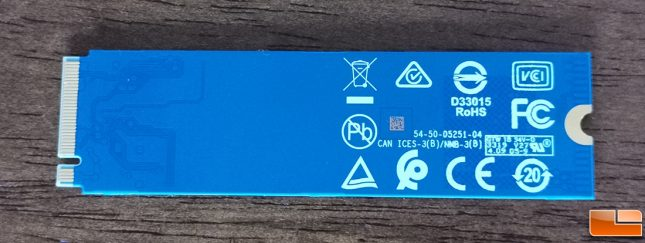 WD Blue SN550 SSD - Single-Sided M.2 2280 PCB