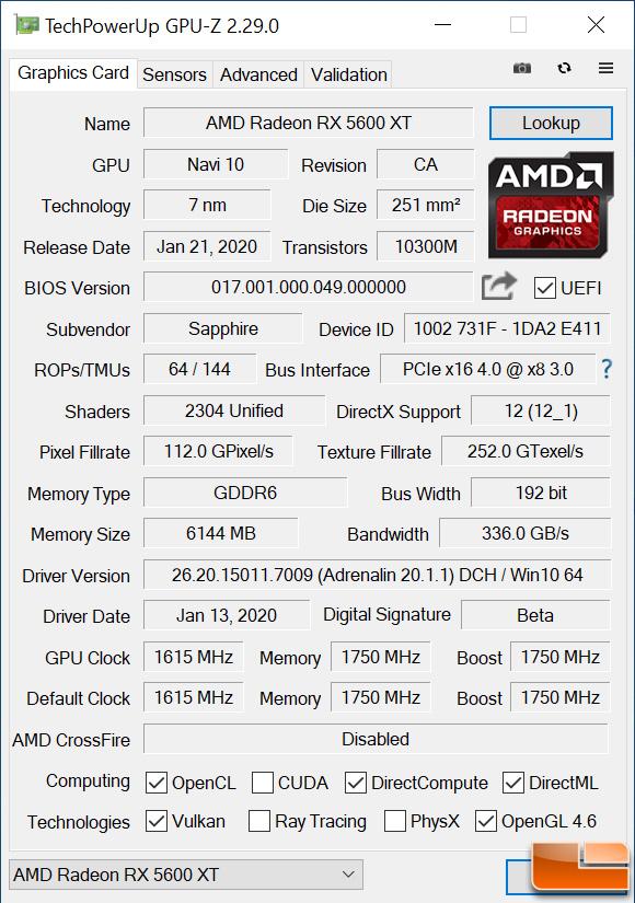 5600 XT GPU-Z