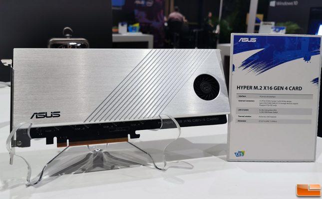 ASUS Hyper M.2 PCIe Gen4 Add-In-Card