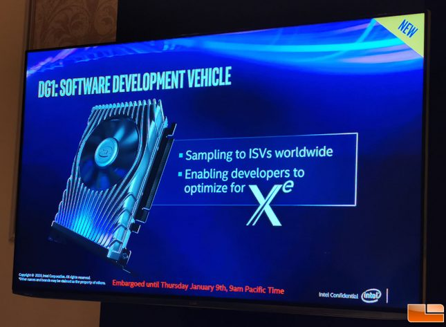 Intel DG1 Software Development Vehicle