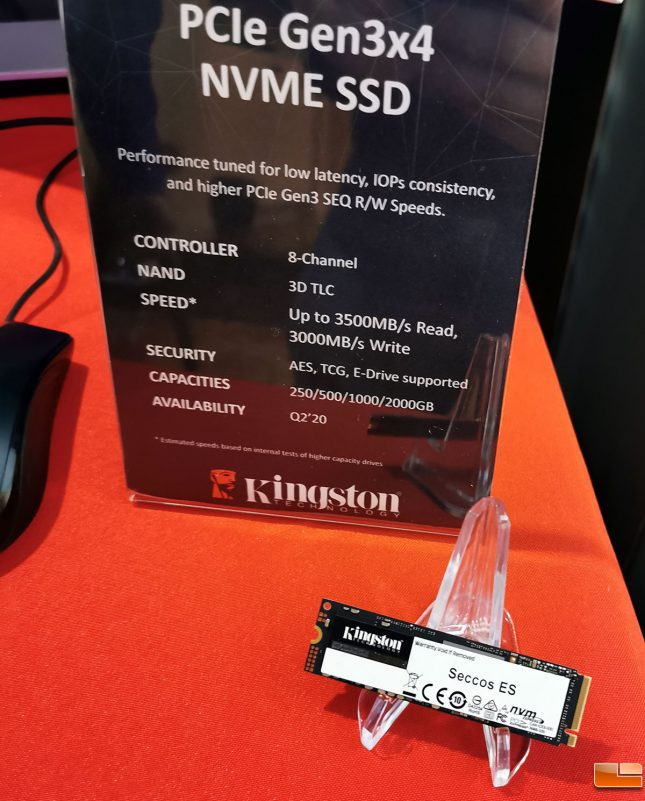 Kingston Seccos ES PCIe Gen 3 SSD