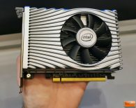 Holding The Intel DG1 Graphics Card