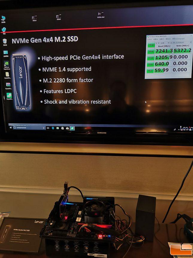Lexar PCIe Gen 4.0 NVMe SSD at CES 2020