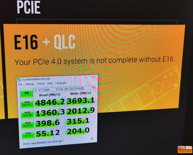 Phison E16 Controller with QLC NAND Flash