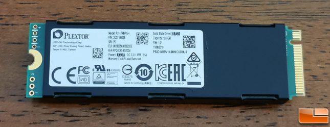 Plextor M9P+ 1TB SSD Heatsink