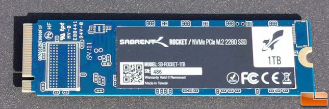 Sabrent Rocket Single-Sided M.2 2280 SSD