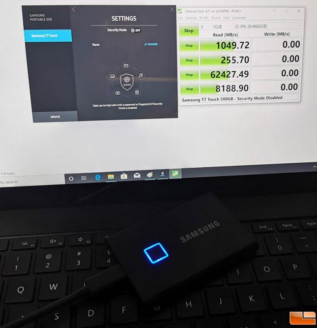 Samsung Portable SSD T7 Touch Drive