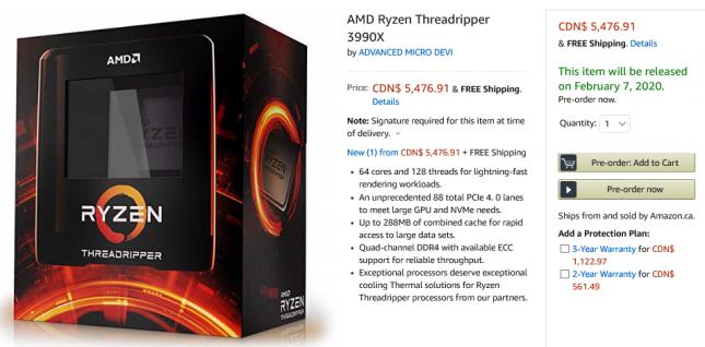 AMD Ryzen Threadripper 3990X Processor Launch