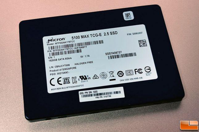 Micron 5100 MAX SATA SSD