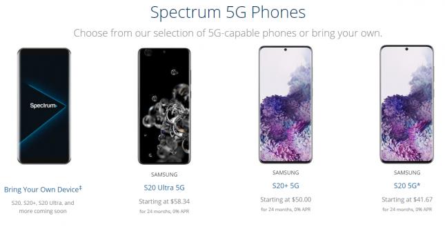 Spectrum 5G Phones