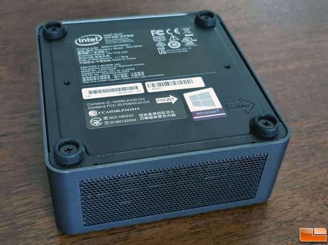 Intel NUC 10 - Frost Canyon - Bottom