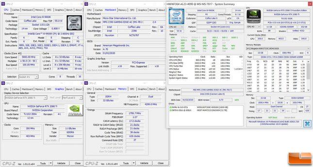 Intel Core i9-9900K Test System Settings