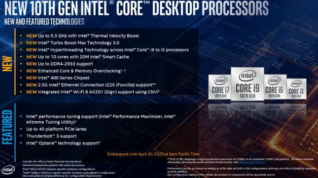 Intel 10th Gen Core Launch - Slide 8