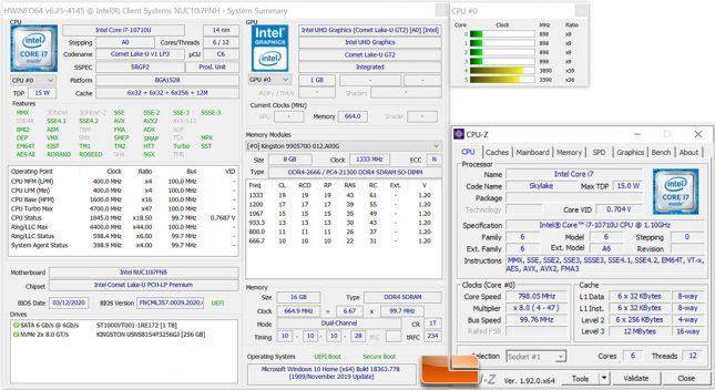 Intel NUC10i7FNH System Details