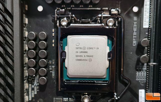 Intel Core i9-10900K Installed