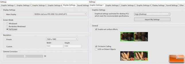 FF Shadowbringers 1080P Game Settings