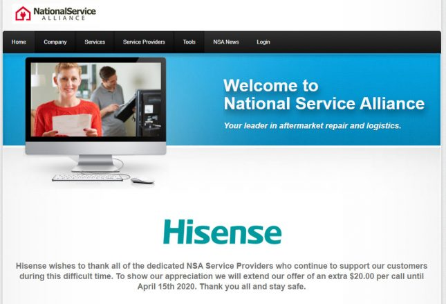 Hisense NSA Service Provider