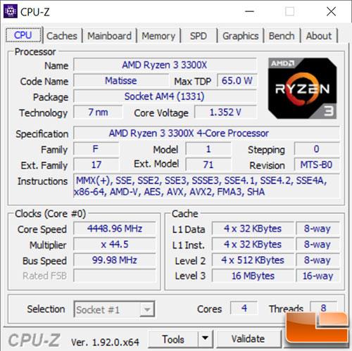 AMD Ryzen 3 3300X Overclock