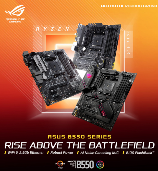 ASUS B550 Motherboard Series