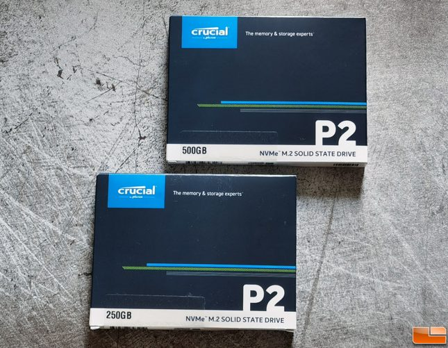 Crucial P2 M.2 NVMe SSD Retail Box