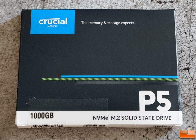 Crucial P5 NVMe SSD 1TB Retail Box