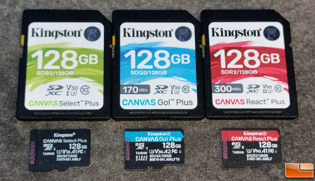 Kingston Canvas Plus Memory Cards