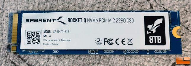 Sabrent Rocket Q 8TB NVMe SSD Label