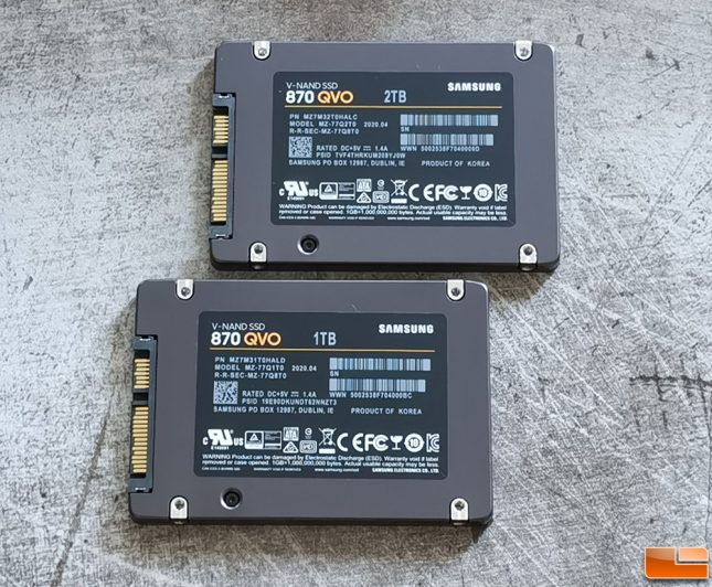 Samsung SSD 870 QVO SSD with QLC V-NAND Flash
