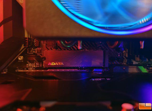 ADATA Swordfish M.2 SSD Installed