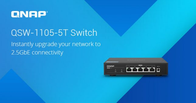 QNAP QSW-1105-5T 2.5GbE Network Switch